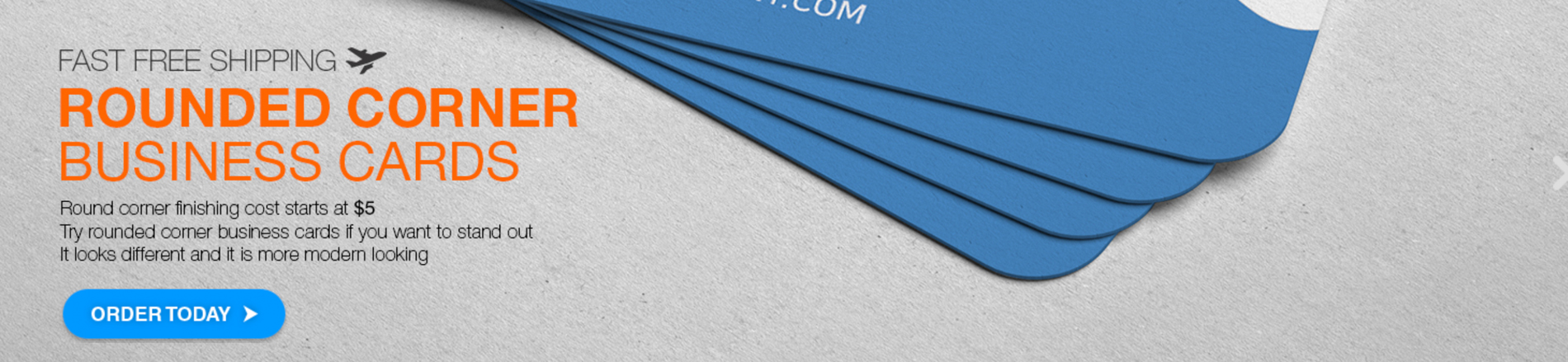 Rounded Corner Business Card by Aladdin Print