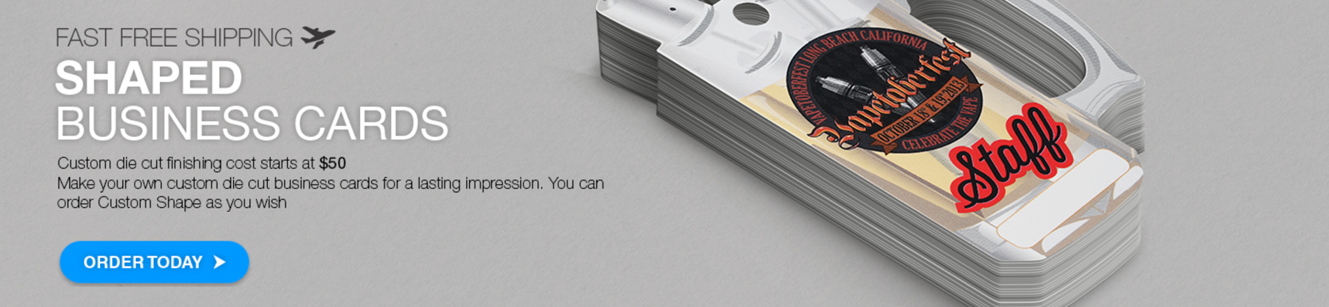 Shaped Business Cards by Aladdin Print