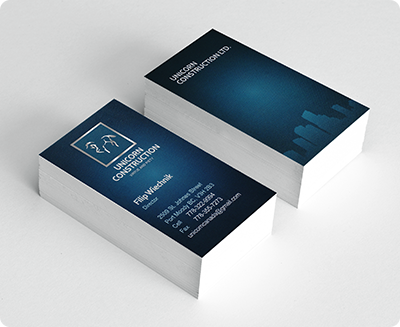 Business card sticker printing services aladdinprint foil business card reheart Gallery