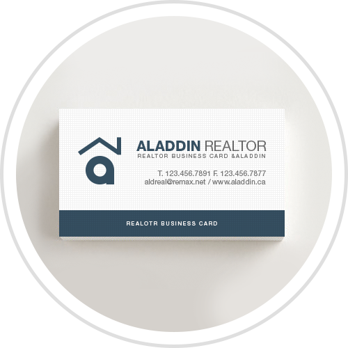 Business card sticker printing services aladdinprint aladdin print real estate reheart Image collections