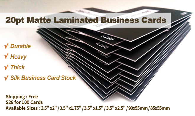20pt silk laminated business cards aladdin print size information reheart Images