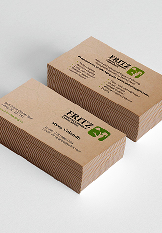 Exclusive brown kraft business cards online aladdinprint available sizes reheart Gallery