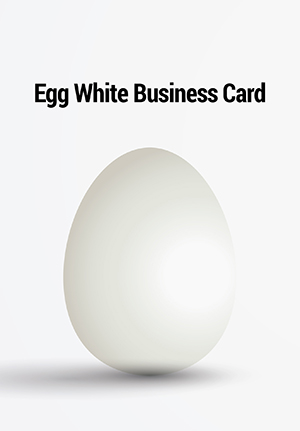 Egg White Business Cards (400 gsm)