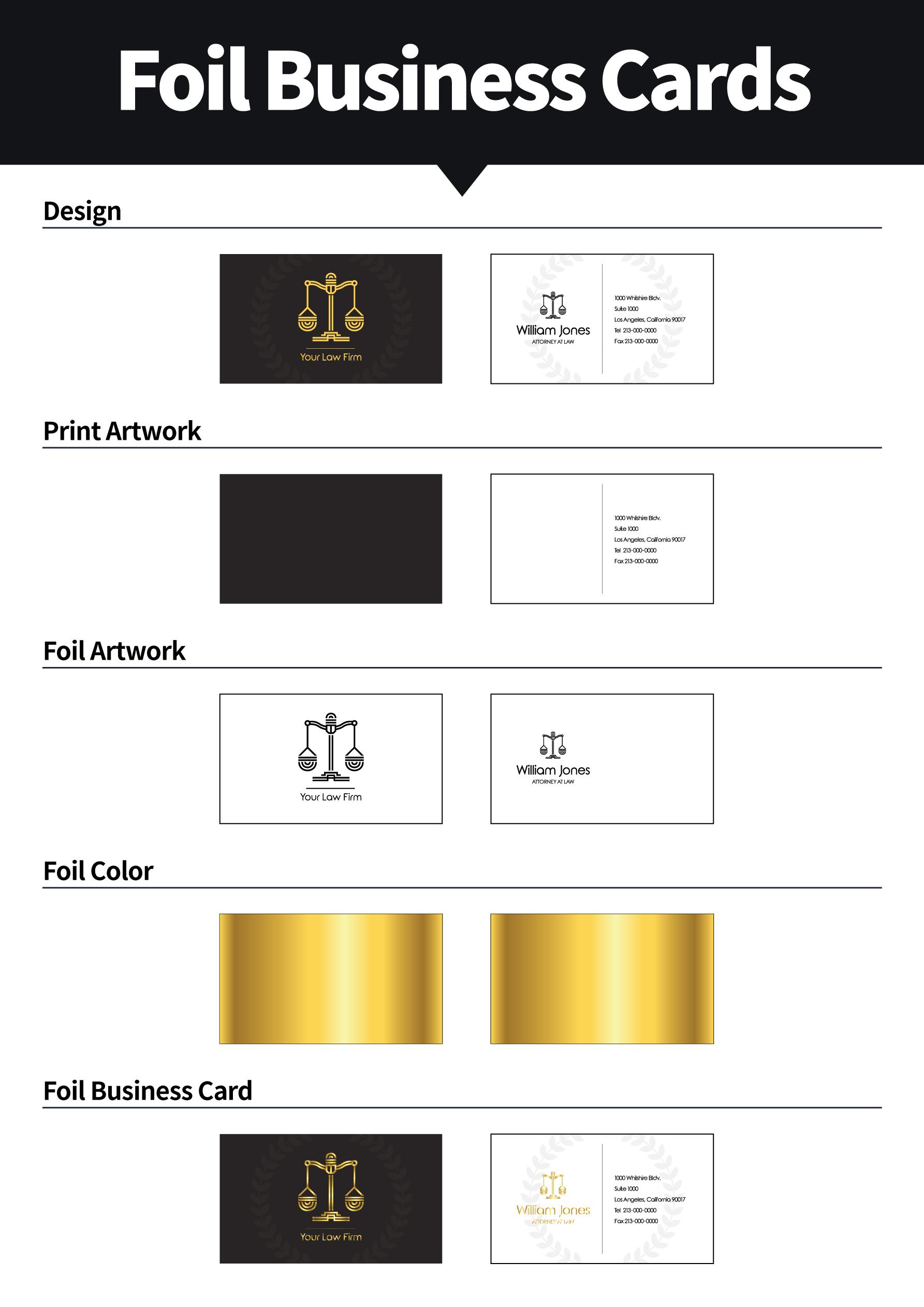 Foil Business Cards | Aladdinprint.com