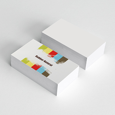 Rubber Natural Business Cards
