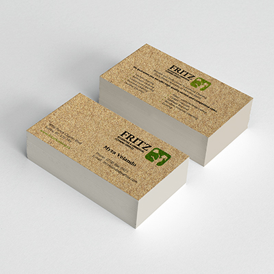 Sand Texture Business Cards