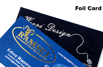 Business card sticker printing services aladdinprint foil stamping reheart Gallery