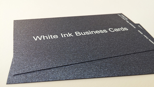White ink business card printing services aladdinprint business cards by paper stock colourmoves